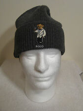Polo Ralph Lauren Knit Beanie Charcoal Gray NWT Polo Bear