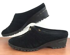 COLE HAAN NIKE AIR Black Suede Mules D20656 DADE MOC Waterproof Shoes Womens 9 B