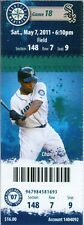 2011 Mariners vs White Sox Ticket: Alex Rios 4 hits Gordon Beckham & Brent Morel