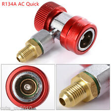 Air Conditioning Coupler Adapter High Pressure Connector R134A AC Quick Car Red