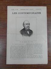 LES CONTEMPORAINS  No 156 (1895) DE ROSSI Archeologue (1822-1894)