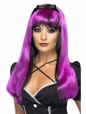 Women's Bewitching Wigs 5 Halloween Colours Fancy Dress Wig Hen Night Witch