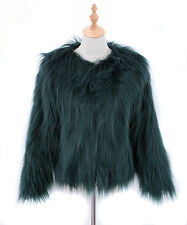 New Women's Hairy Faux Fur Coat Jackets Lady Short Shaggy Parka Winter Outwear