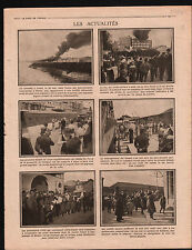 WWI Fire Incendie Usine Pneus Continental Clichy/Port d'Alger  1915 ILLUSTRATION