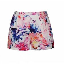 BNWT ALLY FASHION BRIGHT FLORAL PRINT HIGH WAISTED SHORTS SIZE 10