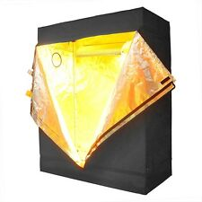 "48""x24""x60"" Indoor Grow Tent Room Reflective Mylar Hydroponic Non Toxic Hut 600D"