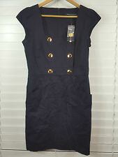 FRENCH CONNECTION  sz 14 womens navy blue Dress NEW+TAGS RRP$200+ [#1404]