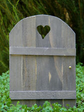 Mini FAIRY GARDEN Accessories ~ Wood Door with Heart ~ NEW