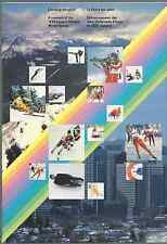 1988 CALGARY OLYMPIC WINTER GAMES IN STAMPS SOUVENIR PACK MINT COND FREE SHIP