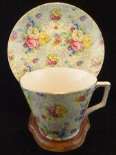 Vintage Lord Nelson Ware Rose Chintz Time Cup and Saucer Set