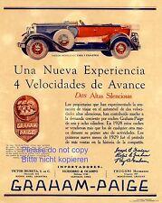 Graham Paige XL Reklame 1929 Faeton Phaeton Argentinien Uruguay Chile Werbung