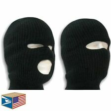 2 LOT SKI MASK Black 1 & 3 HOLE BEANIE HAT BALACLAVA KNIT CAP CLOSEOUT NEW SALE!