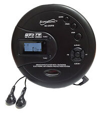 Supersonic Personal CD Disc Player w/MP3 FM Scan Radio 120 Sec Anti-shock SC253