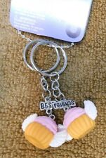 Best Friends Cupcakes w/ Wings Zipper Pulls NWT Adorable! Great for backpacks!