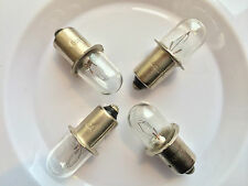 HITACHI 318767 18V 0.6A WORK LIGHT FLASHLIGHT BULB 318-767 UB18D  LOT OF 4 BULB