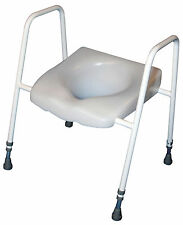 Raised Toilet Seat & Frame with Adjustable Height