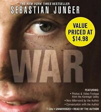 War by Sebastian Jünger (2011, CD, Unabridged, 7 CDs, Read by the Author)....c37