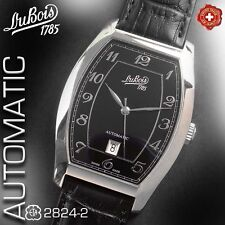 DU BOIS 1785, AUTOMATIC ETA 2824-2 ELABORE, TONNEAU, BLACK SCULPTURE DIAL, NEW