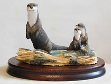 Border Fine Arts ~ OTTER ~ RW2 ~ Wildlife Families ~ The Chiltern Collection.