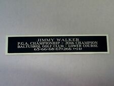 Jimmy Walker 2016 PGA Champion Nameplate For A Golf Ball Display Case 1.5 X 8