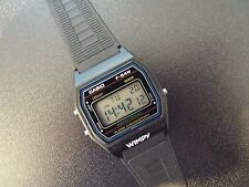 Gents Vintage Casio F-84W Module 593 Alarm Chrono Digital Watch. New Old Stock.