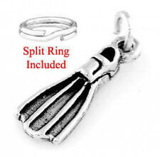 STERLING SILVER SNORKEL FLIPPER CHARM W/SPLIT RING