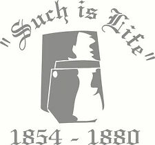 "Ned Kelly Helmet ""Such Is Life"", Car, Ute, Truck Sticker Decal, 205 x 190mm"
