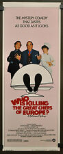 WHO IS KILLING THE GREAT CHEFS OF EUROPE 1978 ORIG 14X36 MOVIE POSTER