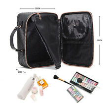 Professional PU Leather Makeup Bags Cosmetic Brushes Tools Storage Jewelry Case