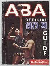1973-74 OFFICIAL ABA AMERICAN BASKETBALL ASSOCIATION SPORTING NEWS GUIDE