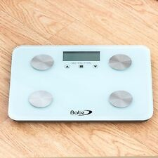 DIGITAL ELECTRONIC LCD BMI CALORIE BODY FAT BATHROOM WEIGHING SCALE WEIGHT WHITE