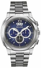 Bulova Men's 96B219 Chronograph Stainless Steel Quartz Blue Dial Watch