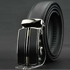 Luxury Leather Men's Automatic Buckle Belts Fashion Waist Strap Belt Waistband L