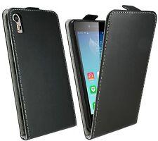 Handy Tasche Hülle Case Schutz Zubehör Schwarz für Lenovo Vibe Shot Z90-7 @COFI