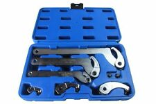 ADJUSTABLE HOOK & PIN WRENCH SET FOR lock nut rings bearings motorcycle A6808