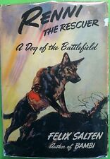 Renni the Rescuer by Felix Salten c1942 Acceptable Hardcover VINTAGE