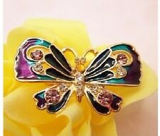 R40 Betsey Johnson Purple Madame Butterfly Ring US