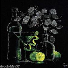 Riolis 1240  Stickpackung Stickbild - Stillleben mit Martini