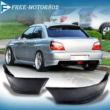 FOR 02-07 SUBARU IMPREZA WRX REAR BUMPER LIP SPOILER BODIKIT SPLITTER PU 2PCS