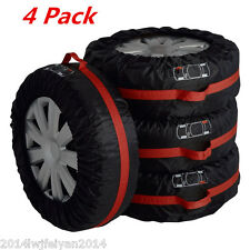 """4xCar Truck Seasonal Spare Tire Protection Cover Tote Carry Storage Bags 16""""-22"""""""