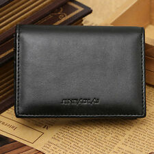 Mini Purse Bifold Genuine Leather Wallet Men's ID Credit Card Holder Money Clip