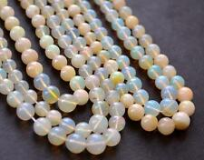 "16"" STRAND ETHOPIAN OPAL BEADS ROUND 3 - 7 MM 52 CTS NATURAL GEMSTONE #2465"