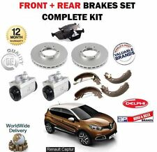 FOR RENAULT CAPTUR 2013-  FRONT + REAR BRAKES SET PADS DISCS SHOES CYLINDERS KIT