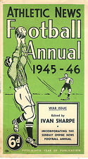 ATHLETIC NEWS FOOTBALL ANNUAL 1945 - 1946, RARE WARTIME ISSUE