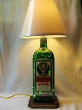 Lamp made from 1.75 liter Jaegermeister alcohol bottle