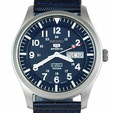 Seiko Analog Sport Mens 5 SPORTS Blue JAPAN Watch SNZG11K1