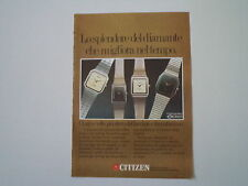 advertising Pubblicità 1982 OROLOGI CITIZEN EXCEED