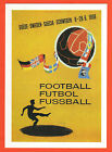 poster card World Cup SWEDEN 1958 / Official Logo + all dates (15 x 21 cm) !!