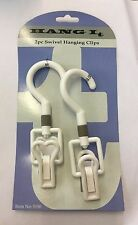 2 x 360º SWIVEL HANGING  CLIPS Twist/Rope/Chain Hanging Hook