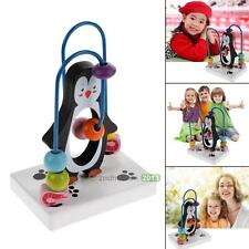 New Children Kid Baby Colorful Wooden Mini Around Beads Penguin Educational Toy#